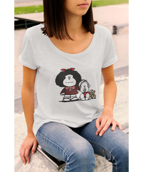 Camiseta Feminina Mafalda Brother's