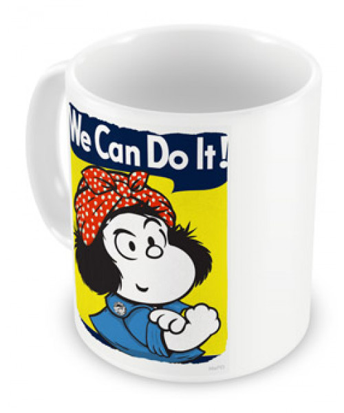Caneca Mafalda We Can Do It